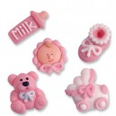 Baby Girl Icing Cake Decorations