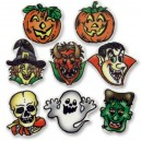 Assorted Halloween Themed Sugar Plaques - Pack of 12