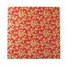 "10"" Square - Red Gold Holly 12mm Thick Drum"