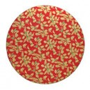 "12"" Round - Red Gold Holly 12mm Thick Drum"