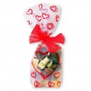 Valentine Heart Design Cellophane Bags - Pack of 10