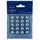 Clear Diamond Studs 20 pack